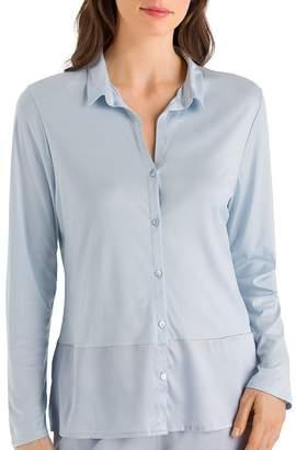 Hanro Grand Central Long Sleeve Pajama Shirt