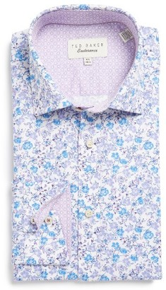 Men's Ted Baker London Leone Trim Fit Floral Dress Shirt $120 thestylecure.com
