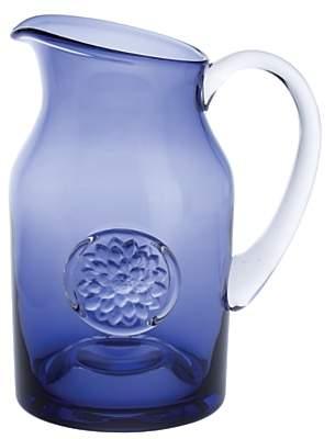 Dartington Crystal Dhalia Flower Bottle Large Vase Jug, Amethyst, 21.5cm