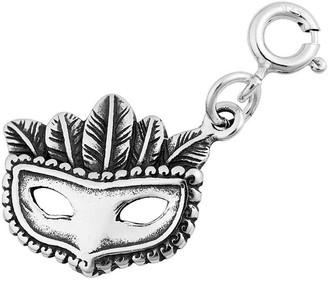 Sterling Silver Mardi-Gras Mask Charm