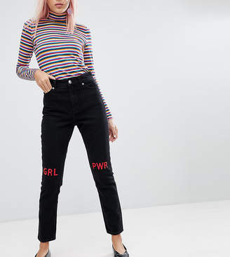 Monki Kimomo Girl Power Mom Jeans