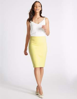 Marks and Spencer Cotton Rich Textured Jersey Pencil Skirt