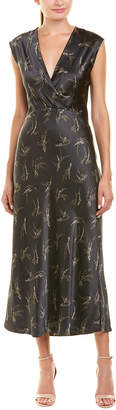 Vince Sprig Floral Silk Slip Dress