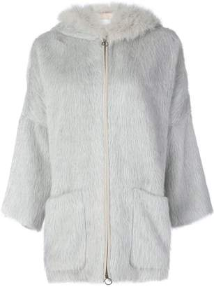 Agnona zipped hooded jacket