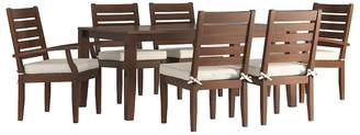 HomeVance Outdoor HomeVance Glen View Brown Patio Dining Table & Chair 7-piece Set