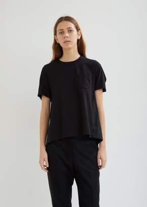 Sacai Shirting Flared Short Sleeve Top