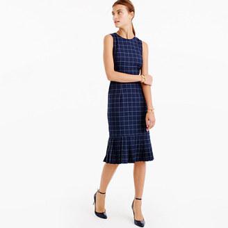 Pleated windowpane dress $198 thestylecure.com