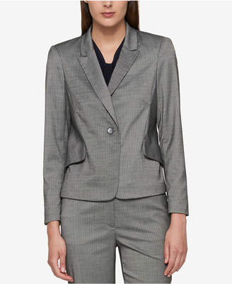 Tommy Hilfiger Pinstriped One-Button Jacket