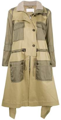 Chloé contrast pocket trench coat