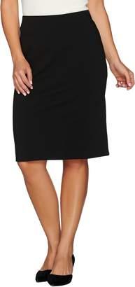 Dennis Basso Ponte Knit Pencil Skirt