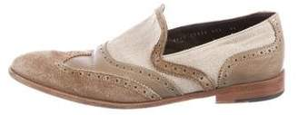 Salvatore Ferragamo Wingtip Brogue Loafers