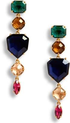 Kate Spade Multicolor Crystal Linear Drop Earrings