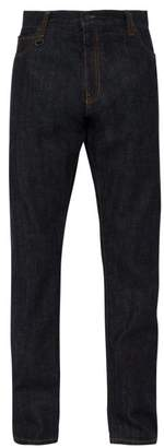 Moncler 7 Fragment - Code Embroidered Denim Jeans - Mens - Indigo