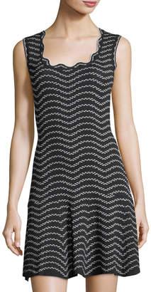 John & Jenn Drop-Waist Wave Patterned Dress $129 thestylecure.com
