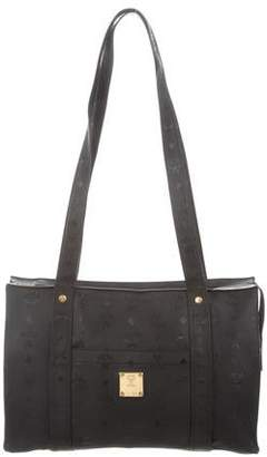 MCM Canvas Leather Shoulder Bag
