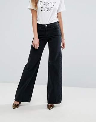 J Brand X Bella Freud High Rise Straight Leg Retro Jean