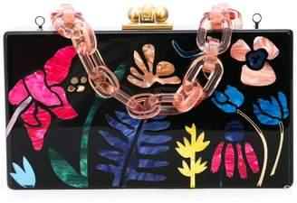 Edie Parker marbled floral clutch