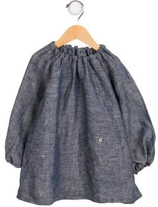 Makie Girls' Linen Crew Neck Tunic