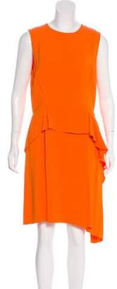Christian Dior Silk Knee-Length Dress Orange Silk Knee-Length Dress
