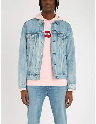 Levi's Logo-embroidered cotton-jersey hoody