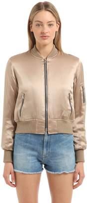 Amiri Silk Satin Bomber Jacket