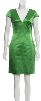 Alexander McQueen Silk Mini Dress green Silk Mini Dress
