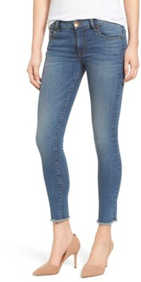 Women's Kut From The Kloth Connie Frayed Hem Stretch Skinny Jeans $89 thestylecure.com