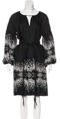 Thomas Wylde Silk Bishop Sleeve Dress