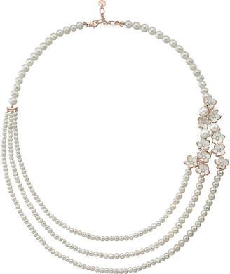 Shaun Leane Rose gold Cherry Blossom diamond necklace, silver