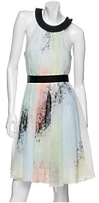 Jonathan Saunders Watercolor Silk Chiffon Dress