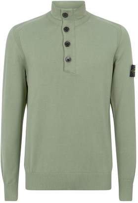 Stone Island Button-Down Sweater