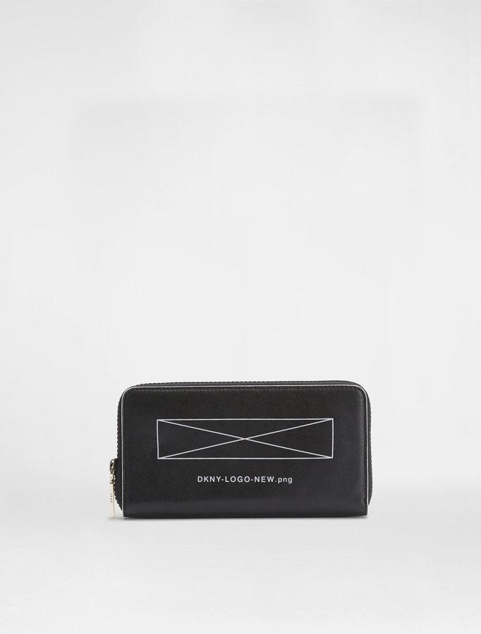 DKNYLogo Zip Around Wallet