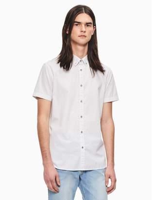 Calvin Klein big + tall classic fit micro print short sleeve shirt
