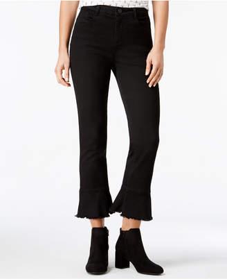 Rewind Juniors' Cropped Flare-Leg Jeans