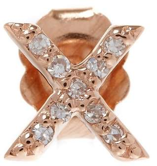 KC Designs Rose Gold Diamond X Single Stud Earring