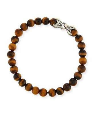 David Yurman Men's Spiritual Beads Bracelet w/ Tiger's Eye