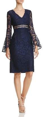 Aqua Bell-Sleeve Lace Dress - 100% Exclusive
