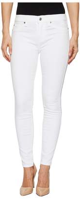 7 For All Mankind Ankle Skinny w/ Faux Pockets in Clean White Women's Jeans