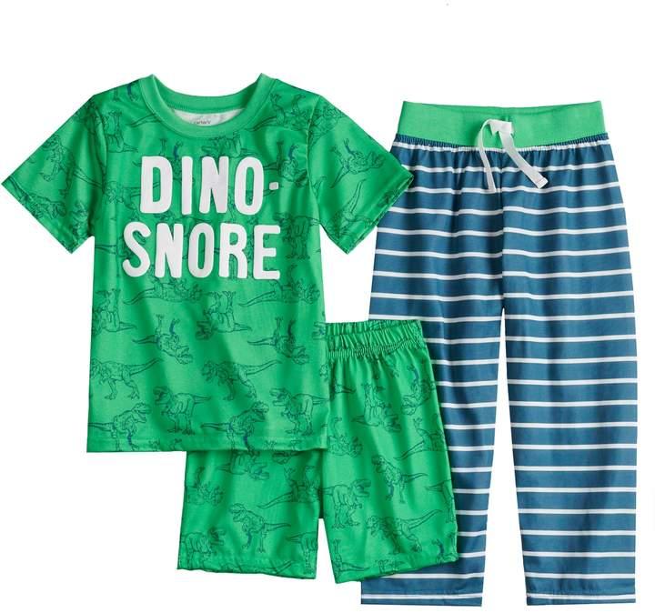 Boys 4-8 Carter's Dino-Snore 3-Piece Pajama Set