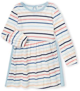 Splendid Toddler Girls) Multi Stripe Color Block Long Sleeve Dress