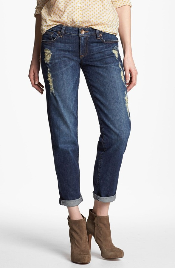 KUT from the Kloth 'Catherine' Slim Boyfriend Jeans (Casual Dark Stone)
