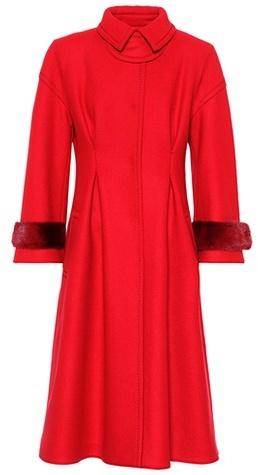 Fendi Wool-blend coat with mink fur
