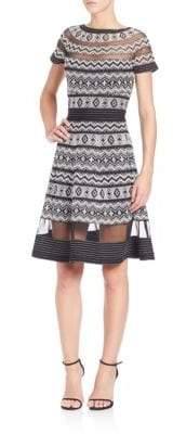 Tadashi Shoji Bateau Neck Short Dress