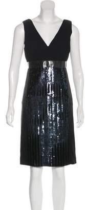 Philosophy di Alberta Ferretti Sequin Embellished Sleeveless Dress