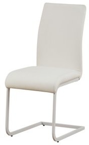 ACME Furniture ACME Gracie White Faux Leather Side Chair, Set of 2