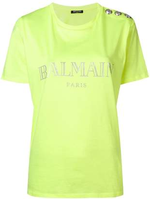 Balmain round neck logo T-shirt