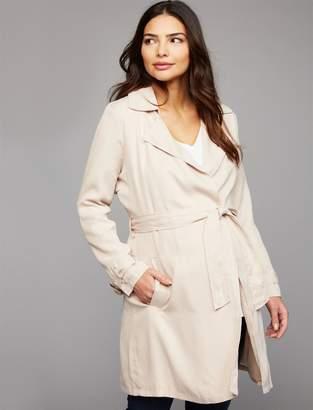BB Dakota Open Front Cotton Woven Maternity Jacket