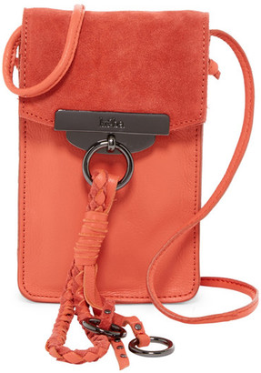 Kooba Dionne Leather & Suede Phone Crossbody Pouch $148 thestylecure.com