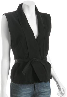 Grey Ant black canvas belted 'Slayer' vest