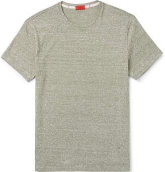 Isaia Slim-Fit Space-Dyed Cotton And Linen-Blend T-Shirt